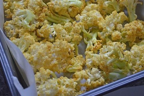 Karfiol recept: Pečený karfiol v chilli omáčke